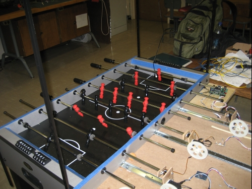 Photo of the final foosball robot
