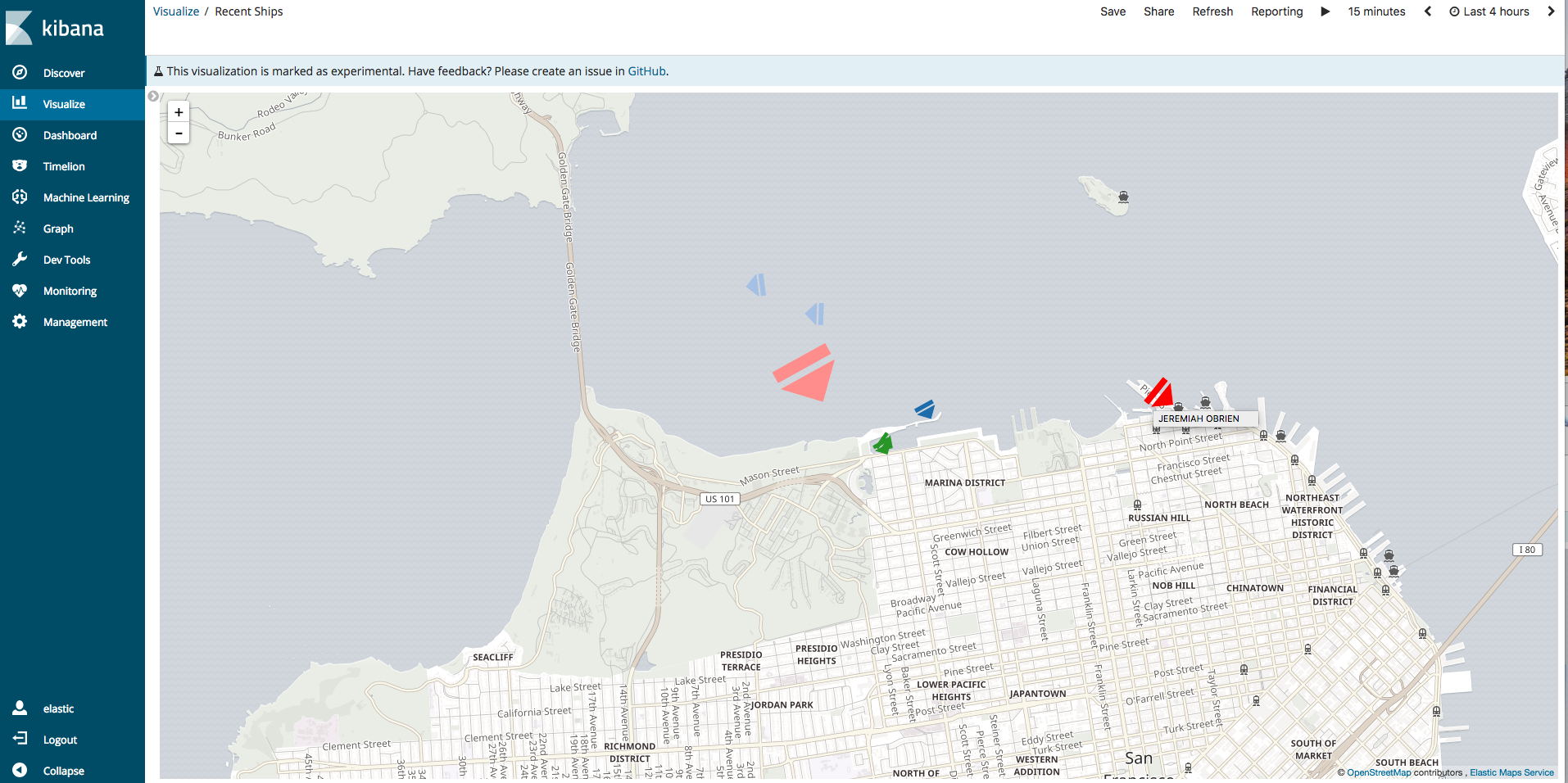 Tracking Nearby Ships with SDR, Elasticsearch, Kibana, and Vega
